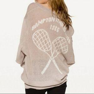 Wildfox Sweater Hampton Tennis Club V-neck Gray M